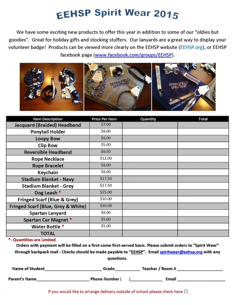Spiritwear accessories flyer and order form final Dec  2015